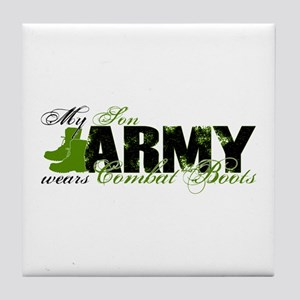 Son Combat Boots - ARMY Tile Coaster