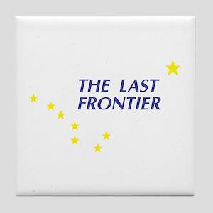 Alaska The Last Frontier Stat Tile Coaster