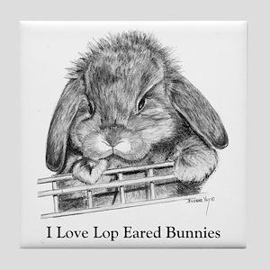 Lop Eared Bunny Tile Coaster