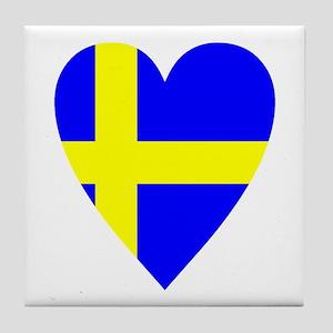 HEART FOR SWEDEN Tile Coaster