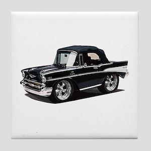 BabyAmericanMuscleCar_57BelR_Black Tile Coaster
