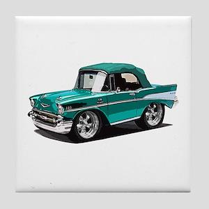 BabyAmericanMuscleCar_57BelR_Green Tile Coaster