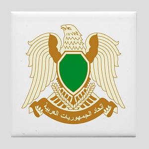 Libya Coat of Arms Emblem Tile Coaster