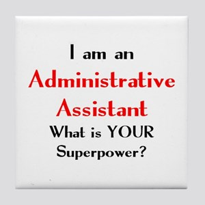 administrative assistant Tile Coaster