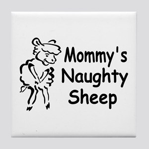 Mommy's Naughty Sheep Tile Coaster