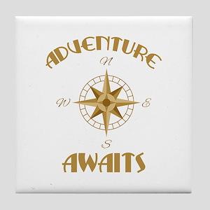 Adventure Awaits Tile Coaster