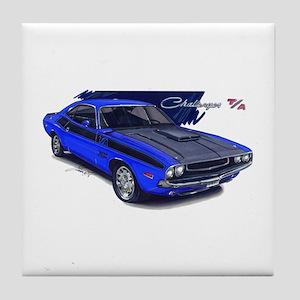 Dodge Challenger Blue Car Tile Coaster