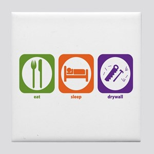Eat Sleep Drywall Tile Coaster