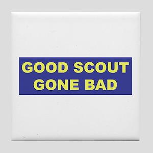 Good Scout Gone Bad (Blue) Tile Coaster