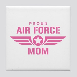 Proud Air Force Mom W [pink] Tile Coaster
