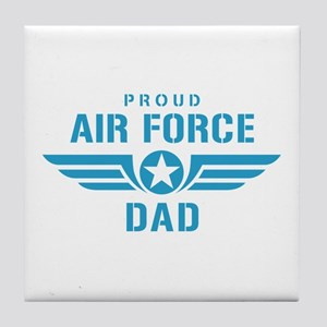 Proud Air Force Dad W Tile Coaster