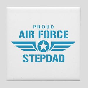 Proud Air Force Stepdad W Tile Coaster