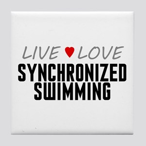 Live Love Synchronized Swimming Tile Coaster