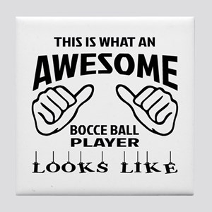 This is what an awesome Bocce ball pl Tile Coaster