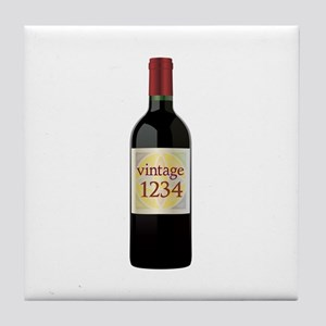 Custom Vintage Wine Tile Coaster