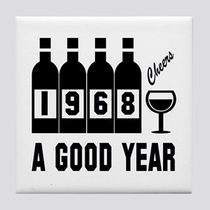 1968 A Good Year, Cheers Tile Coaster