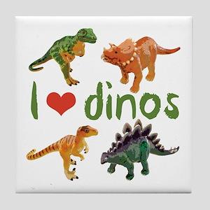 I Love Dinos Tile Coaster