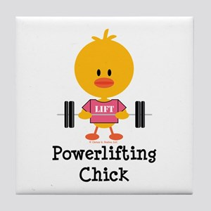 Powerlifting Chick Tile Coaster