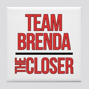 Team Brenda The Closer Tile Coaster
