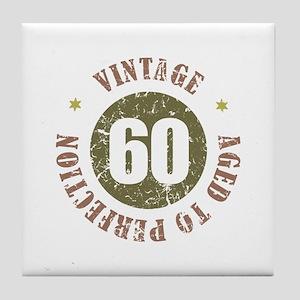 60th Vintage birthday Tile Coaster