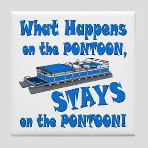 On The Pontoon Tile Coaster