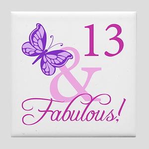 Fabulous 13th Birthday For Girls Tile Coaster
