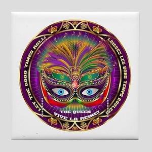 Mardi Gras Queen 8 Tile Coaster