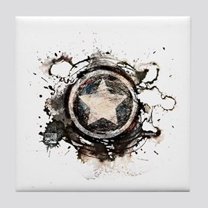 Captain America Star Tile Coaster