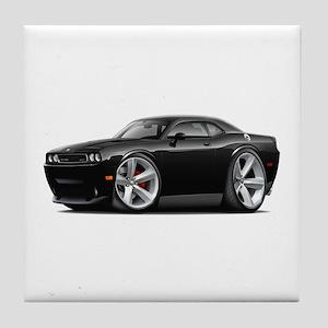 Challenger SRT8 Black Car Tile Coaster