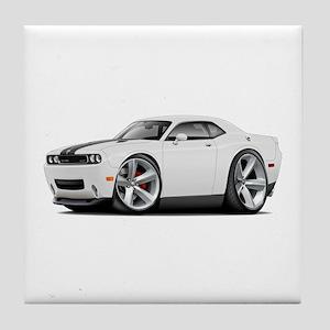 Challenger SRT8 White Car Tile Coaster