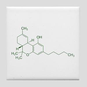 Tetrahydrocannabinol THC Tile Coaster