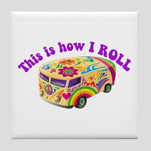 How I Roll (Hippie Van) Tile Coaster