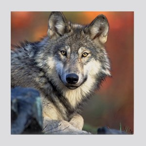 Wolf Wolves Lovers Tile Coaster