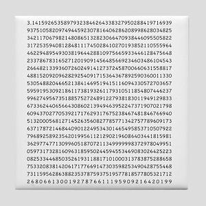 Pi to 1000 Digits Tile Coaster