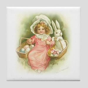 """Cute Easter Bunny"" Tile Coaster"