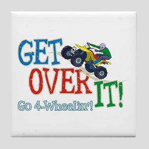 Get Over It - 4 Wheeling Tile Coaster