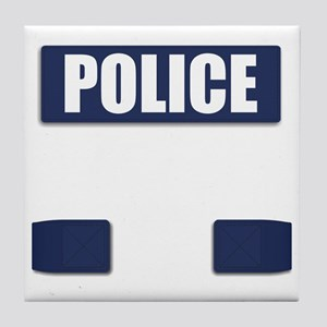 Police Bullet-Proof Vest Tile Coaster
