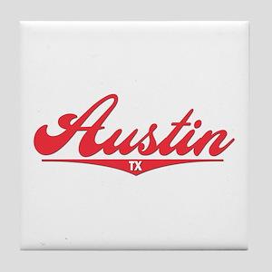 Austin TX Tile Coaster