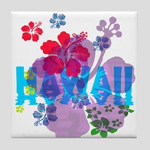 Hawaii Hibiscus Tile Coaster