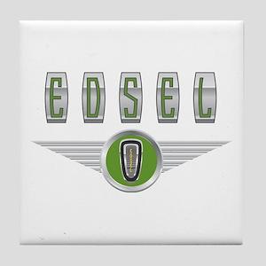The Flying Edsel Horsecollar in Green Tile Coaster