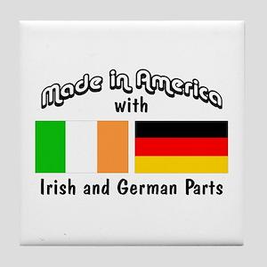 Irish & German Parts Tile Coaster