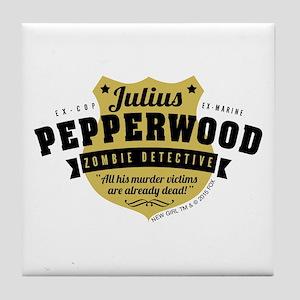 New Girl Julius Pepperwood Tile Coaster