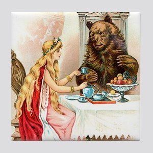 Fairy Tale Collection: Beauty  the Be Tile Coaster