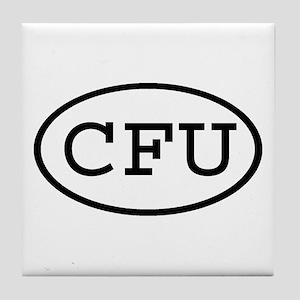 CFU Oval Tile Coaster
