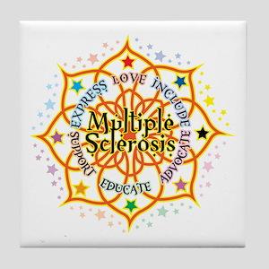 Multiple Sclerosis Lotus Tile Coaster