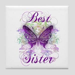 Best Sister Tile Coaster