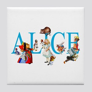 ALICE & FRIENDS IN WONDERLAND Tile Coaster