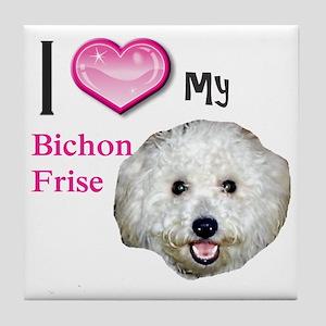 BichonFrise2 Tile Coaster