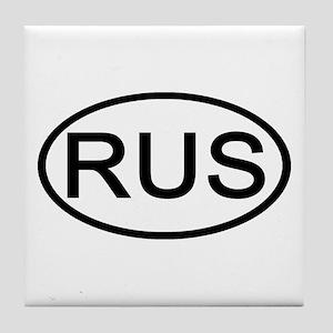Russia - RUS Oval Tile Coaster