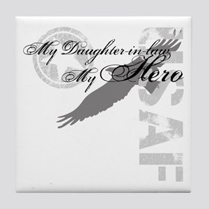 My Daughter-in-law My Hero USAF Tile Coaster